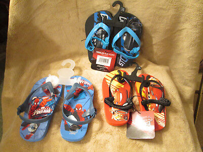 Toddler Flip Flops Disney Cars, Spiderman Choice Theme