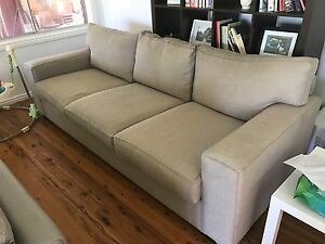 3 seater fabric couch - oz design furniture Davidson Warringah Area Preview