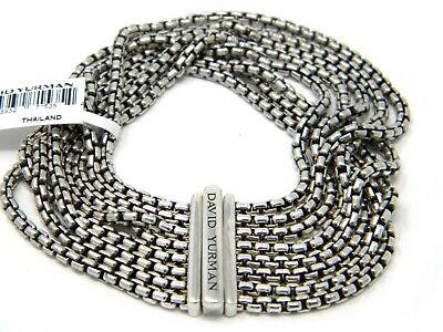 David Yurman 2.7mm 8 Row Box Chain Bracelet Sterling Silver 7 inch (David Yurman 8 Row Box Chain Bracelet)