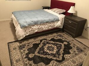 Double size bed and dresser moving sale