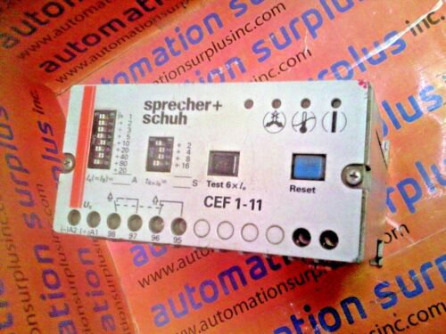 CEF1-11 0.5-630 A ELECTRONIC MOTOR PROTECTION RELAY