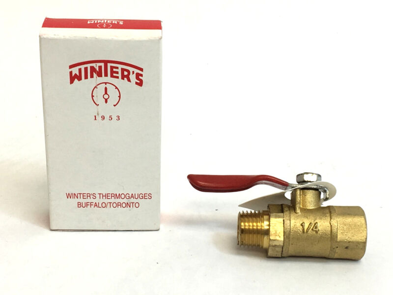 """Winters Instruments SMV500 1/4"""" NPT x 1/4"""" NPT Ball Valve with Lever Handle"""