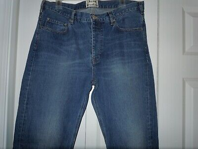 Acne Studios Town Vintage Mens 36 X 34 Jeans Button Fly