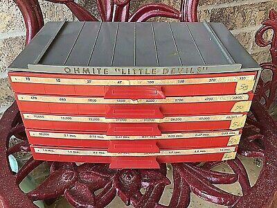 Vintage Ohmite Little Devils Resistor Storage Cabinet W 200 Resistors