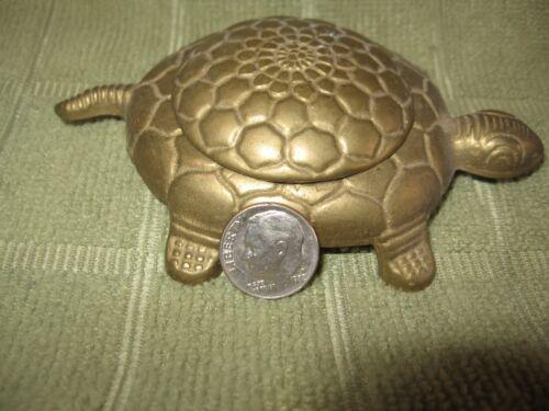 Vintage Italian Brass Metal Turtle Trinket Box Ashtray?