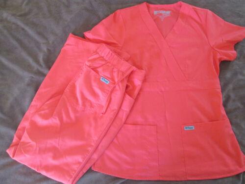 Grey's Anatomy scrubs scrub set XS papaya nurse uniform Greys EUC petite nursing