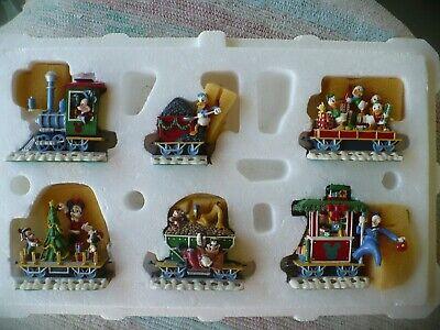 Disney - Mickey & Friends Christmas Train Figurine Set by Danbury Mint *AS IS*