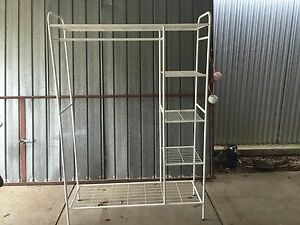 Free standing clothes rack with shelving North Haven Port Adelaide Area Preview