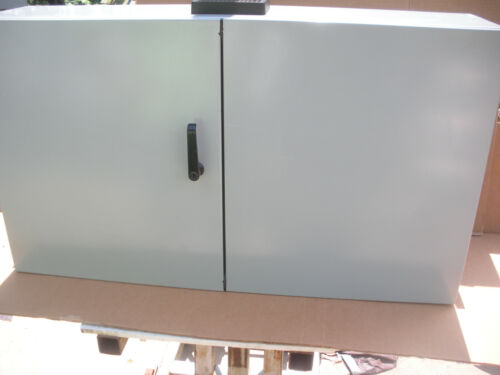 Hammond 2 Door Electrical Enclosure En4td244210gy 24x42x10 W/ Subpanel & Fan