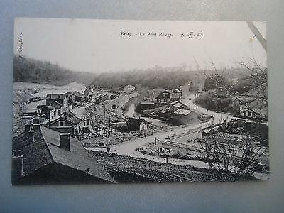 Ansichtskarte Briey Le Pont Rouge 1909