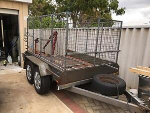 Trailer dual axle 8x5 with cage and ramp Westminster Stirling Area Preview