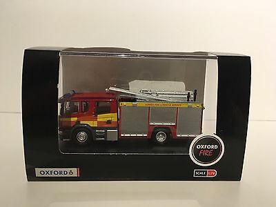 Oxford Diecast 1:76 Surrey Fire Brigade Service Scania Pump Ladder Fire Engine
