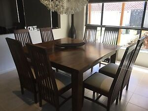 Solid mango wood dining set with buffet Pakenham Cardinia Area Preview
