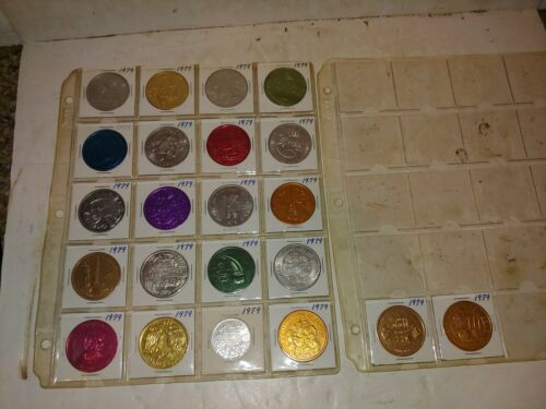 22 Vintage 1979 Mardi Gras,New Orleans,Assorted Coins,Medals,Tokens,Medallions