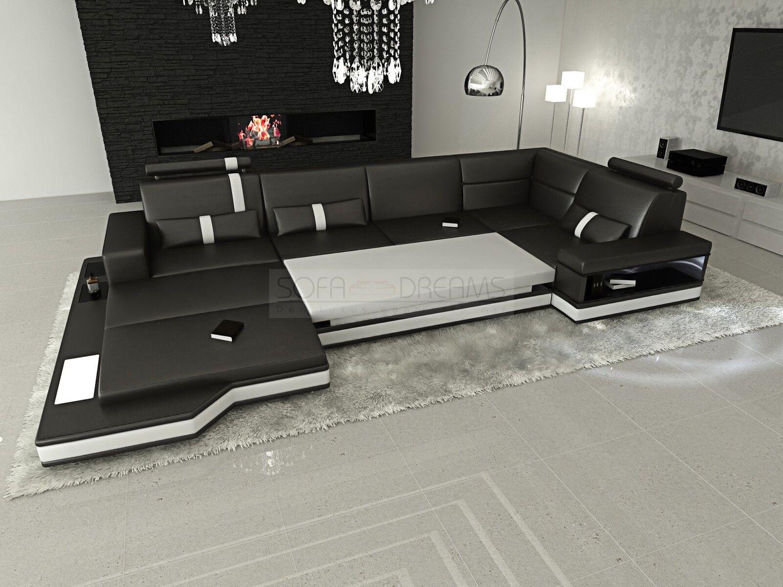 Ledersofa messana designer sofa wohnlandschaft licht eur for Wohnlandschaft elektrisch
