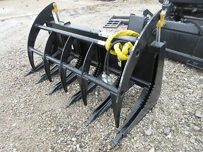 New 66 Hd Log Root Rake Brush Grapple Bucket 2 Cylinder Usa Made Attachment