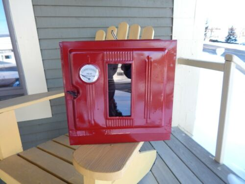 vintage BAKING OVEN in RED for WOODSTOVE or Coleman Camping STOVE Perfection