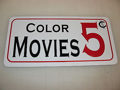 COLOR MOVIES 5 Cents  Metal Sign 4 Costume Cosplay Girls Clubware S&M Prop