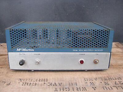 60s McMARTIN TR-66 FM-SCA MULTIPLEX RADIO RECEIVER transistors muzak VINTAGE