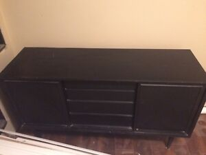 Black dresser / tv stand furniture