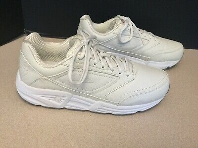 Mens Brooks Addiction Walker White Leather Walking Shoes. Size 10(2E Width).