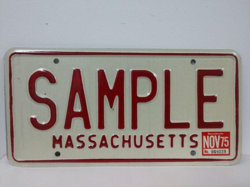 1970's Massachusetts Sample License Plate