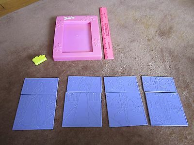 Barbie Fashion PlatesTara Toy 2000s Pink Purple Mix & Match Plastic Rub/Trace
