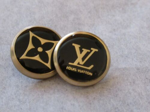 Louis Vuitton LV Buttons Listing for 2 black BUTTONS 18MM THIS IS FOR TWO