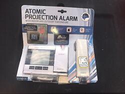 La Crosse Technology Atomic Projection Alarm Clock Indoor Outdoor Temperature