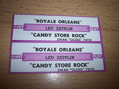 "2 Led Zeppelin Royale Orleans Jukebox Title Strip CD 7"" 45RPM Records"
