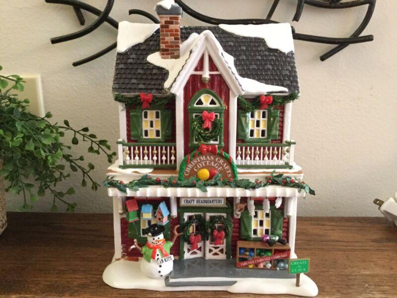 Dept 56 Snow Village CHRISTMAS CRAFTS COTTAGE 55616 Retired