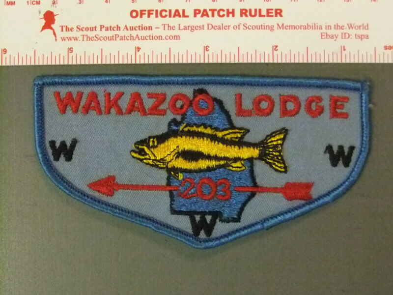 Boy Scout OA 203 Wakazoo flap 7595JJ