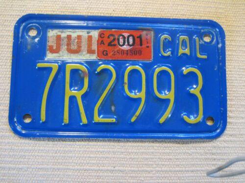 California, Motor Cycle license plate, 70