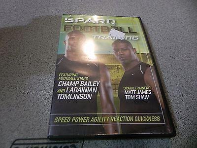 SPARQ Football Training DVD w/ Champ Bailey Ladainian Tomlinson * Workout Sports