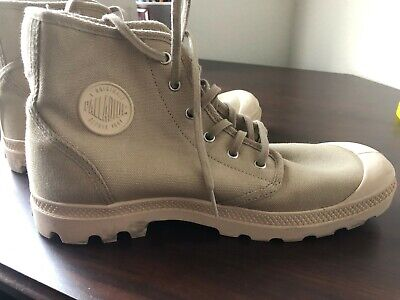 New Palladium Men's Ankle Boots Beige Tan Sahara Desert Sz 10.5 - GREAT COND.