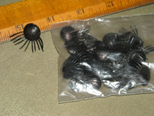vintage doll or plush animal eyelashes plastic round base black lot