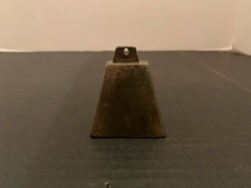 Antique Primitive Brass Cow or Goat Bell 2 inches