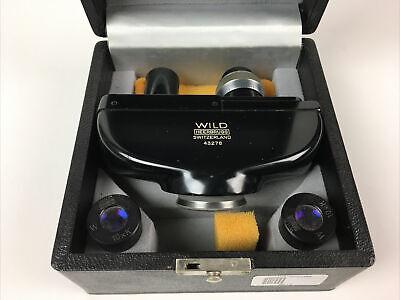 Wild Heerbrugg Swiss M20 Microscope Binocular Head 10x Eyepieces Box