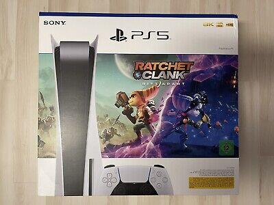 SONY PS5 PlayStation 5 Disc Disk Edition Bundle mit Spiel Ratchet & Clank NEU!