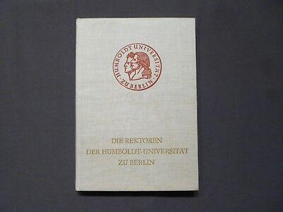 Buch, Die Rektoren der Humboldt Universität zu Berlin, Niemeyer Halle 1967