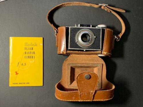 Vintage Kodak Flash Bantam Folding Film Bellows  Camera 48mm  f4.5 Anastar Lens