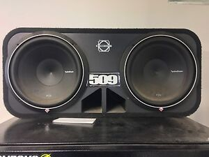 """Rockford p2 12"""" subwoofers and am"""