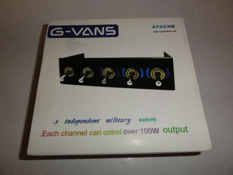 "G-VANS Apache Hummer Baybus Fan Controller Aluminum Black Aluminum 5.25"""