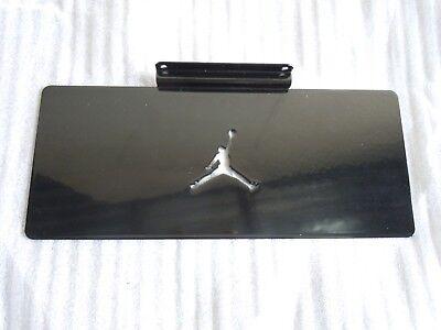 6 Pieces Of Jordan 365 Slatwall Shoe Shelves In Glossy Black Metal