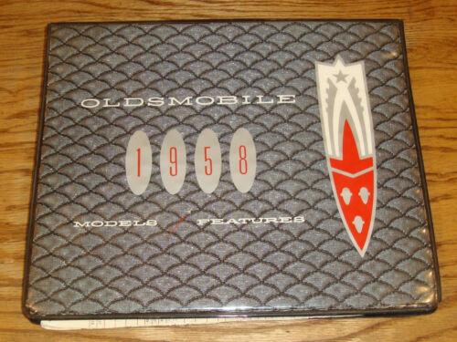 Original 1958 Oldsmobile Models & Features Dealer Showroom Album Ninety-Eight 88