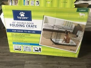 Brand new dog crate and bed