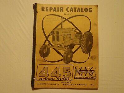 1957 Minneapolis - Moline 445 Powerlined Tractors Operators Manual And Repair C