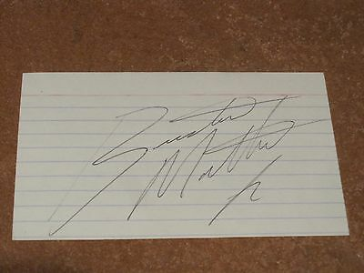 Buster Mathis Jr. Autographed Boxing Index Card PSA Pre-certified