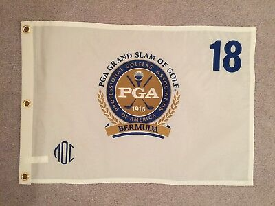 PGA GRAND SLAM OF GOLF FLAG BERMUDA NEW OFFICIAL SEALED EMBROIDERED