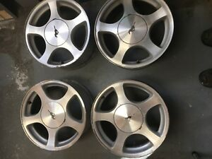 "4 16"" aluminum rims for mustangs and other fords"